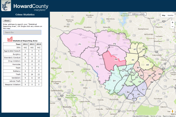 Frederick County Md Zip Code Map.Howard County Maryland Data Download And Viewer