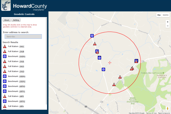 Howard County Maryland Data Download and Viewer